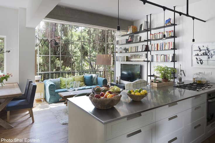 Photographs: Shai Epstien Interior design of 60sqm apartment in Tel-Aviv. After their children moved away, the owners decided to sell the family's specious house, and move to a small apartmen…