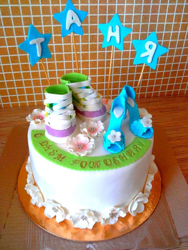 Торт на день рождения. Мастика.