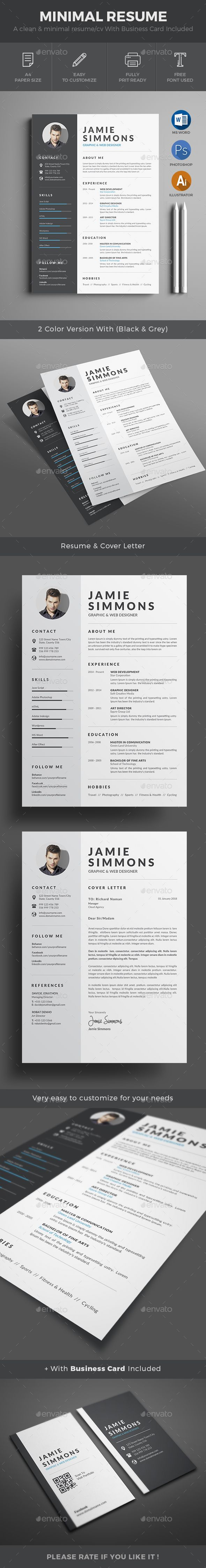 #Resume - Resumes #Stationery Download here: https://graphicriver.net/item/resume/18670835?ref=alena994