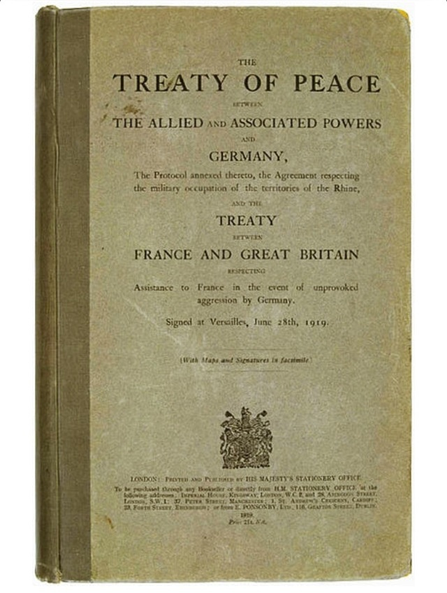 an overview of the treaty of versailles document Teach pupils about the five major peace treaties that ended world war i with this printable activity in addition, pupils will research five other important peace.