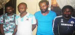 Notorious 4-man gang which includes 27-year-old commercial bus driver based in Benue State Monday Otupa and three others Joseph Oriyan 27 Basil Fabian 39 and Mike Onazi 34 have been arrested for armed robbery and car snatching in different parts of Nigeria as they claimed they get information about their victims from prostitutes. The suspects who revealed they have members in Lagos Enugu Benue and Port Harcourt who they call when they come to the states for operation further revealed they…