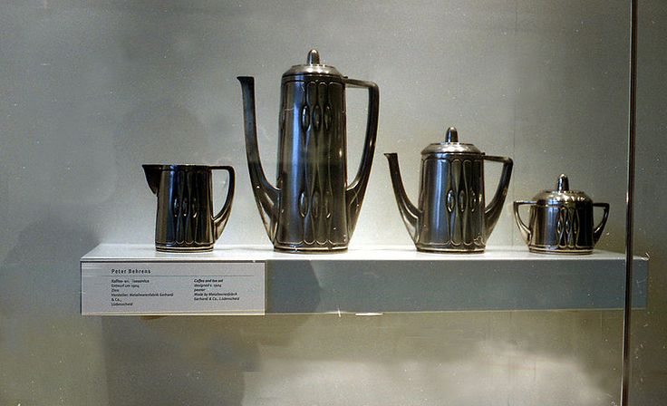 Service à thé et café créé par Peter Behrens. Darmstadt
