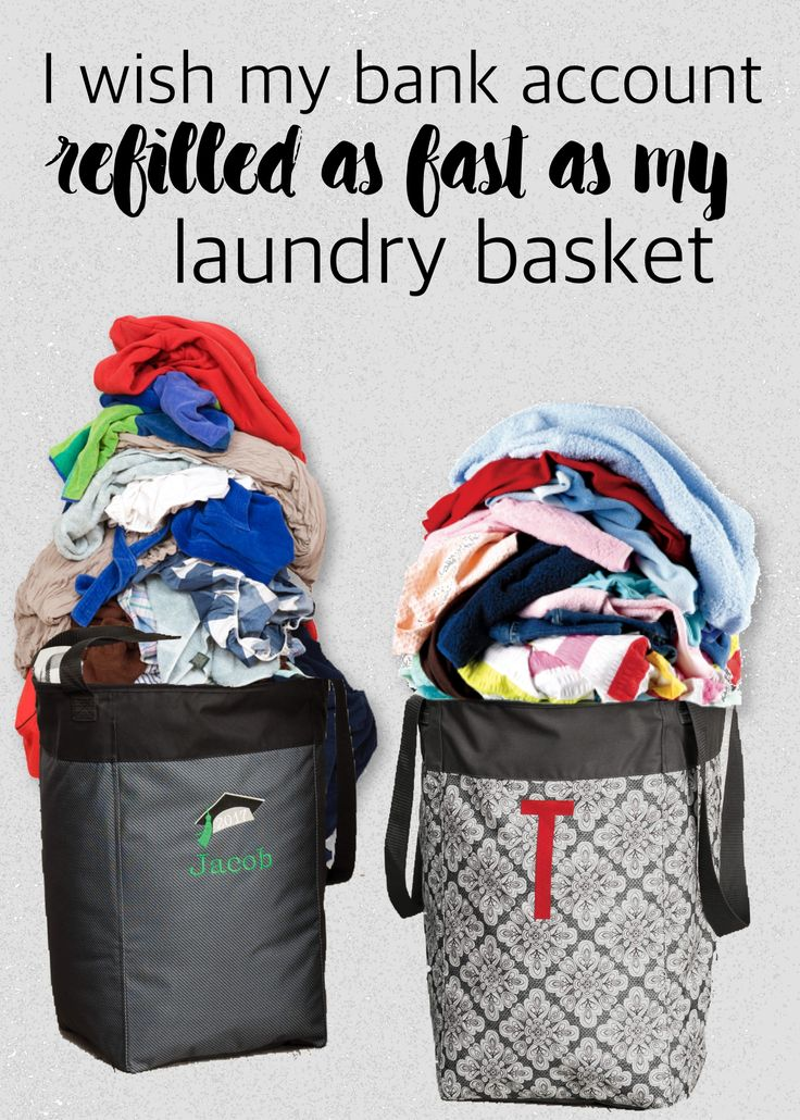 I wish my bank account refilled as fast as my laundry basket. #standtallbin #ilovemybaglady Thirty-One Gifts