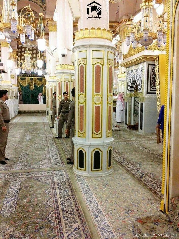 Riyadh ul jennah .. may Allah give us a chance to pray here ; in shaa Allah