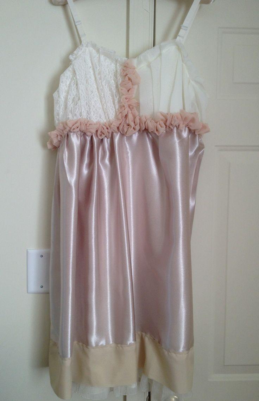 Rustic handmade slip dress