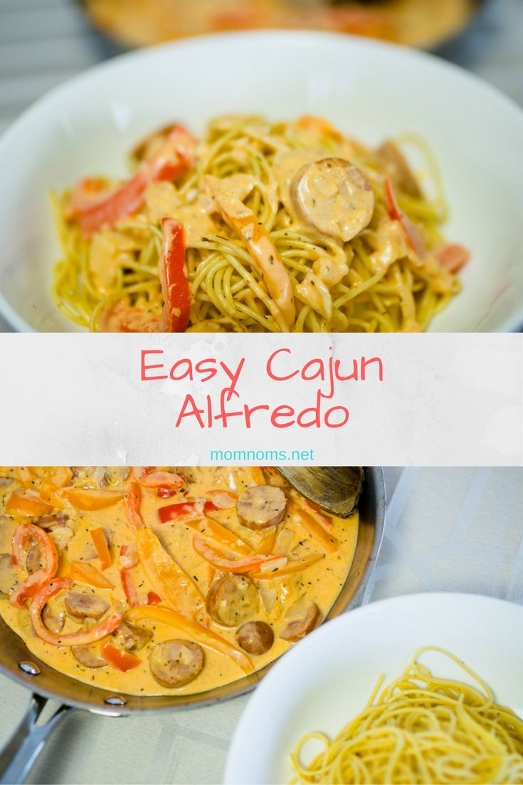 Super easy Cajun Alfredo.  It's good for the whole family and has a little…