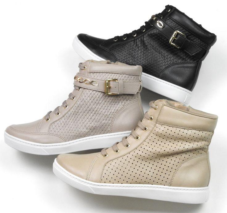 tênis - tendência  - tênis botinha - trend - sneaker - Ref. 16-12410   Ref. 16-12409