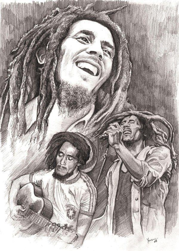 Bob Marley Tattoos | Pin Jesus Tattoos Bob Marley Tattoo Fotos Desenhos on Pinterest