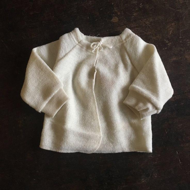 Organic Merino Wool Terry Baby Cardigan - Natural - 0m-6m – MamaOwl