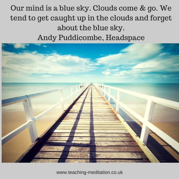 Meditation = blue sky