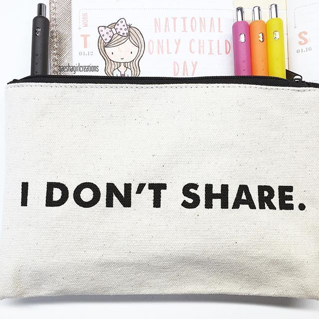 ‍‍ Happy National Only Child Day! Any only kids out there, or parents of an only child?  I also found the perfect home for my Papermate InkJoy gel pens in this pouch I found at Cost Plus World Market.