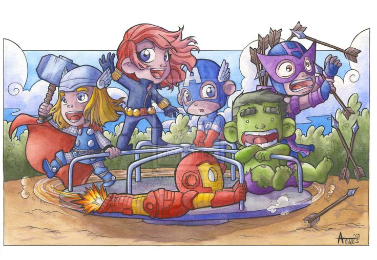 Avengers at the Park by AgnesGarbowska.deviantart.com on @deviantART