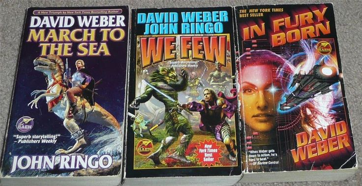 Three  Paperback Novels by David Weber & John Ringo