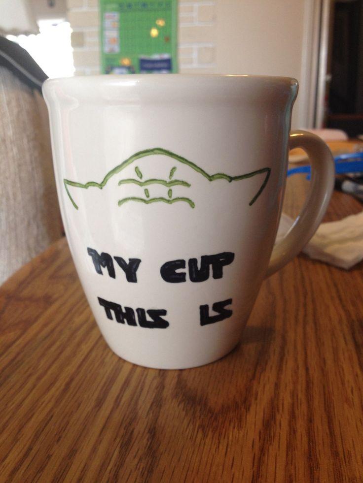 Yoda Starwars Sharpie Mug Stuff I Actually Made From