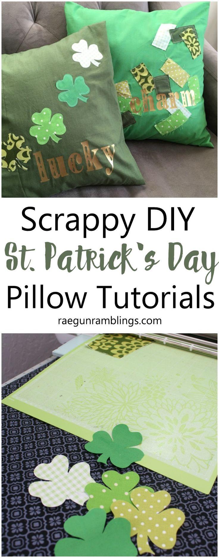 DIY Scrappy St. Patrick's Day Pillowcases - Rae Gun Ramblings
