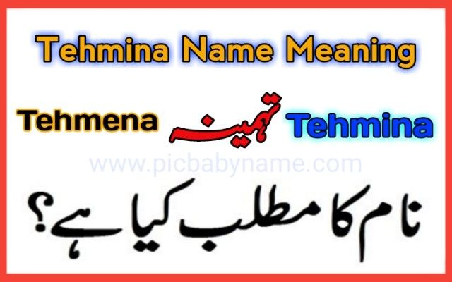 Tahmeena Name Meaning Names With Meaning Muslim Boy Names Muslim Baby Names