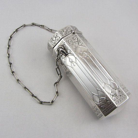 #ArtNouveau Sterling Silver Purse William Kerr #Victorian Circa 1800s