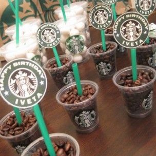 Lets party with coffee! Starbucks birthday brunch