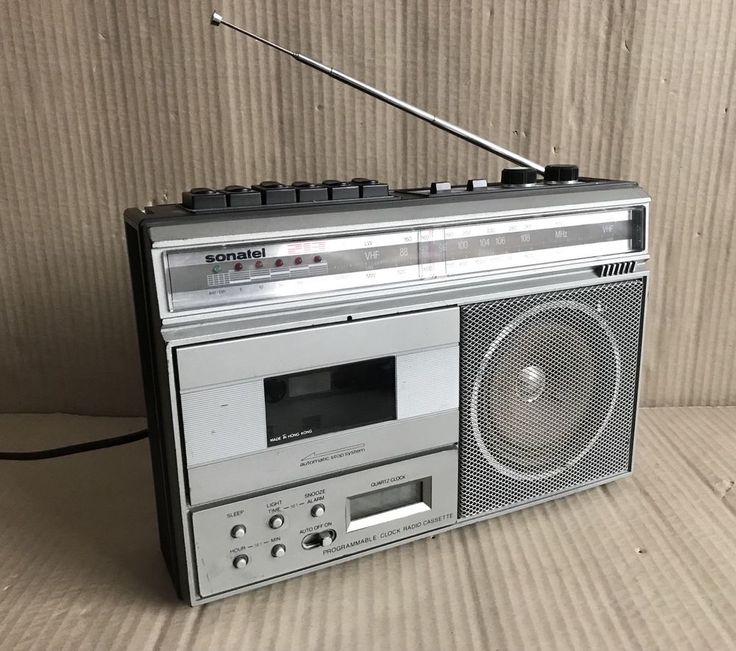 Vintage Sonatel RC213 Mono Radio Cassette - Portable RC 213 Boombox  | eBay