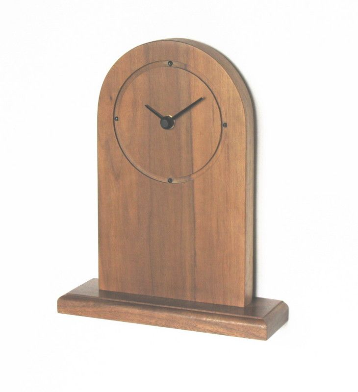 Handmade mantel Clock  | Black Walnut Circle clocks
