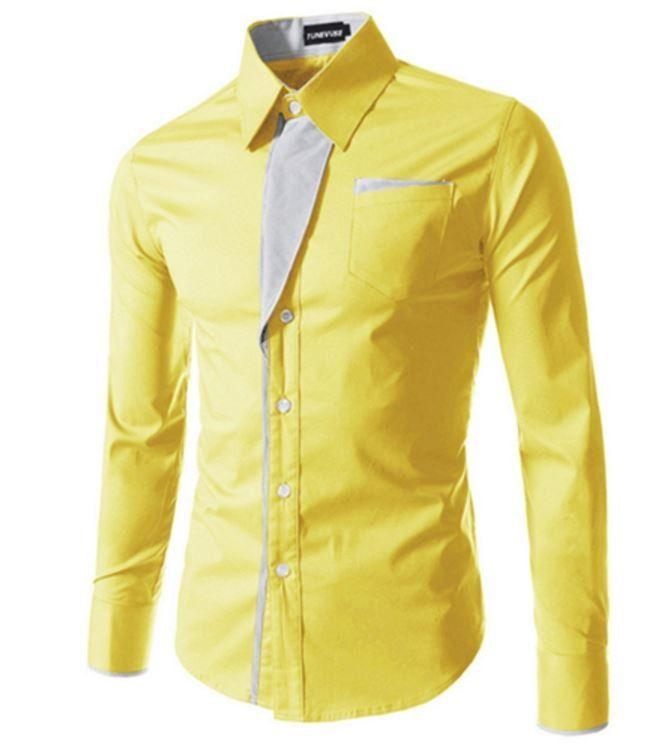 Elegantní pánská slim košile žlutá – Velikost L Na tento produkt se vztahuje nejen zajímavá sleva, ale také poštovné zdarma! Využij této výhodné nabídky a ušetři na poštovném, stejně jako to udělalo již velké množství …