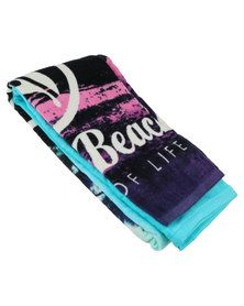 Urban Beach Tropical Island Beach Towel  Teal