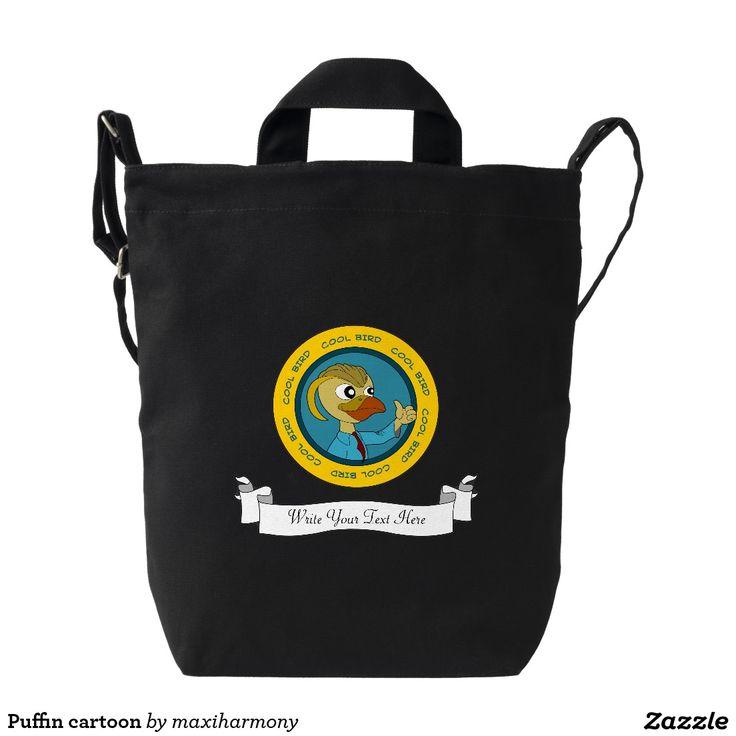 Puffin cartoon duck canvas bag