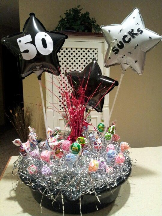 My take on 50 sucks happy 50th birthday for a male co for 50th birthday party decoration ideas for men