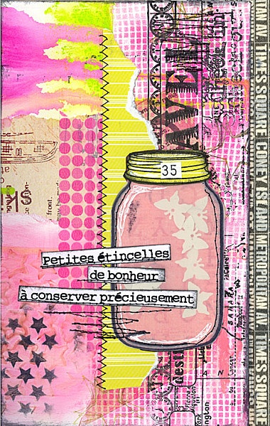 Art Journal - I have one page in the ICAD journal from 2013 that is just a jar. Nothing in the jar, noting on the background. This may help me change that.