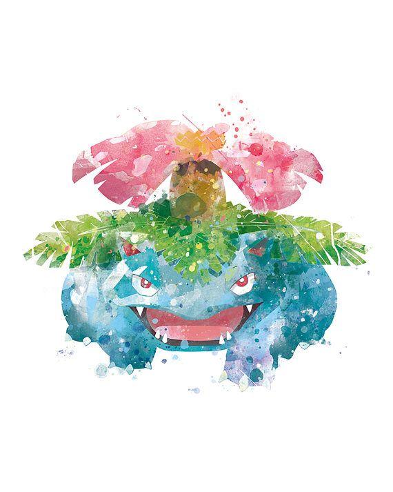 Pokemon Venusaur Print Pokemon Go Art Anime Bulbasaur Ivysaur