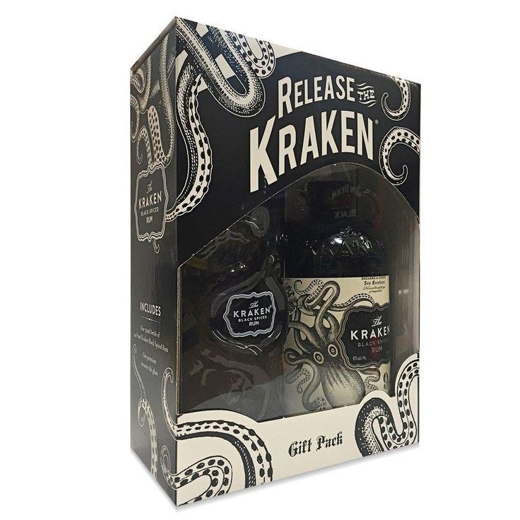 Kraken Black Spiced Rum Gift Set with Ceramic Glass