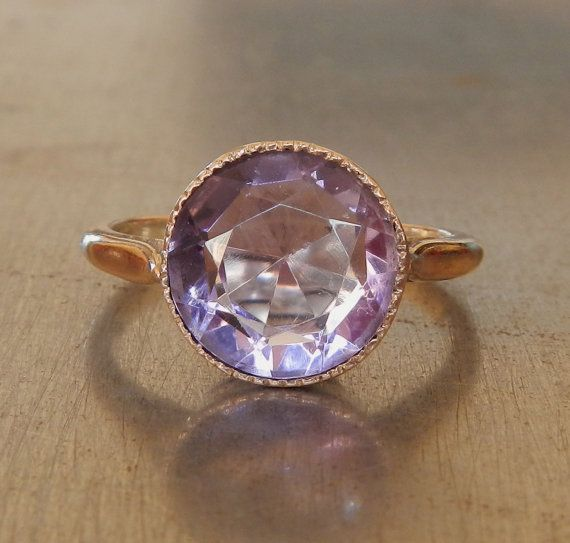 Vintage Amethyst Ring by AntiqueSparkle on Etsy