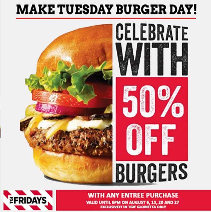 Burger Promo At Tgi Fridays Burger Food Design Food