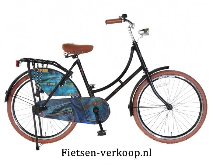 Omafiets Jeans Zwart 24 Inch   bestel gemakkelijk online op Fietsen-verkoop.nl