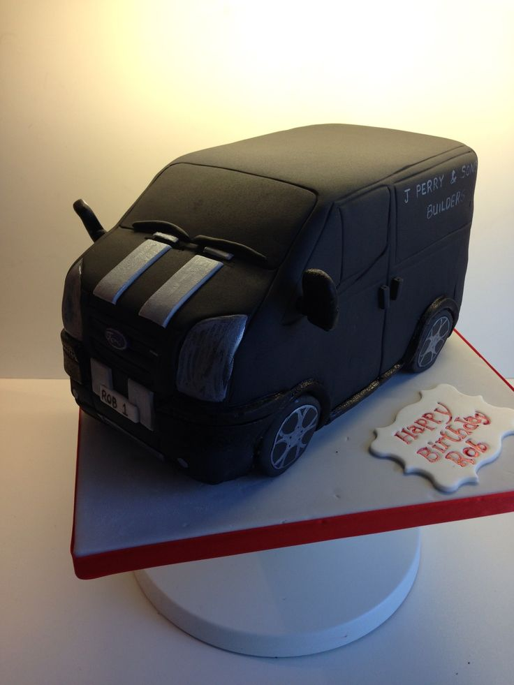 Ford Transit Van Cake Fondant Vehicles Pinterest