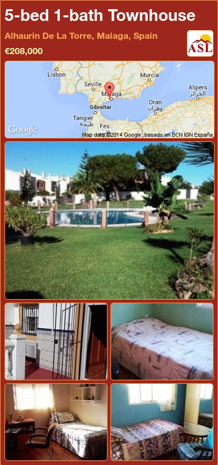 5-bed 1-bath Townhouse in Alhaurin De La Torre, Malaga, Spain ►€208,000 #PropertyForSaleInSpain