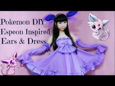 Pokemon DIY | Espeon Inspired Costume & Ears - YouTube