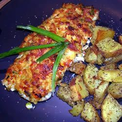 Crabs baked fish and types of cheese on pinterest for Crispy baked whiting fish recipes