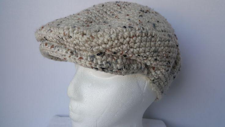 Crochet Kango Hat, Unisex Brimmed Hat, Newsboy Hat by ThatHandmadeGirl on Etsy
