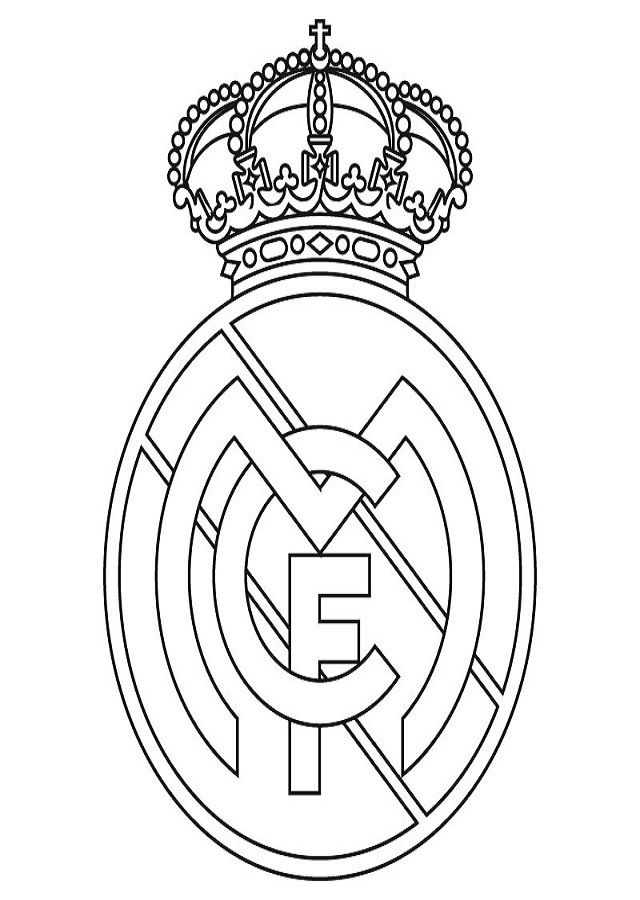 Dibujos Para Colorear De Futbol Del Real Madrid Escudo Del Real Madrid Dibujos Del Real Madrid Logo Del Real Madrid