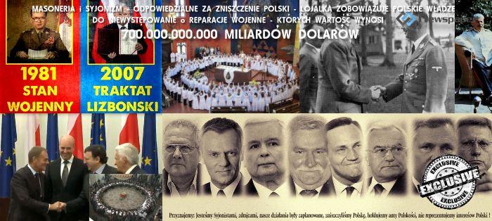 Dług świata wobec Polski i Polaków to ok.700 miliardów dolarów