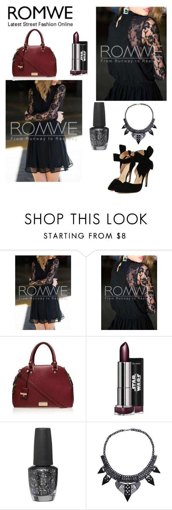 """""""Romwe"""" by iamniharika ❤ liked on Polyvore featuring Carvela Kurt Geiger and OPI"""