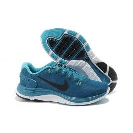 Nike LunarGlide+ 4 Shield Herresko Blå Sort