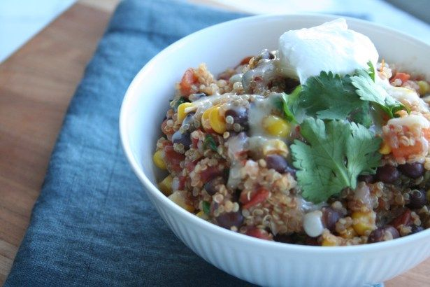 This one-pot Mexican quinoa is the perfect weeknight meal. It's healthy, filling, and will curb your Mexican cravings without packing on the margarita calories!