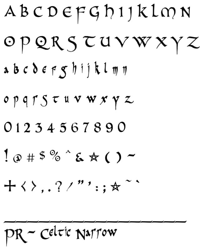Tattoo Gaelic Font Creater: Celtic Font Embroidery