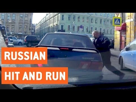 Man Almost Hit by Car Gets Revenge | Russian Road Rage - YouTube
