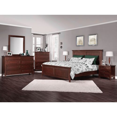 8-Piece Auburn Queen Bedroom Set - Brandy   - Online Only