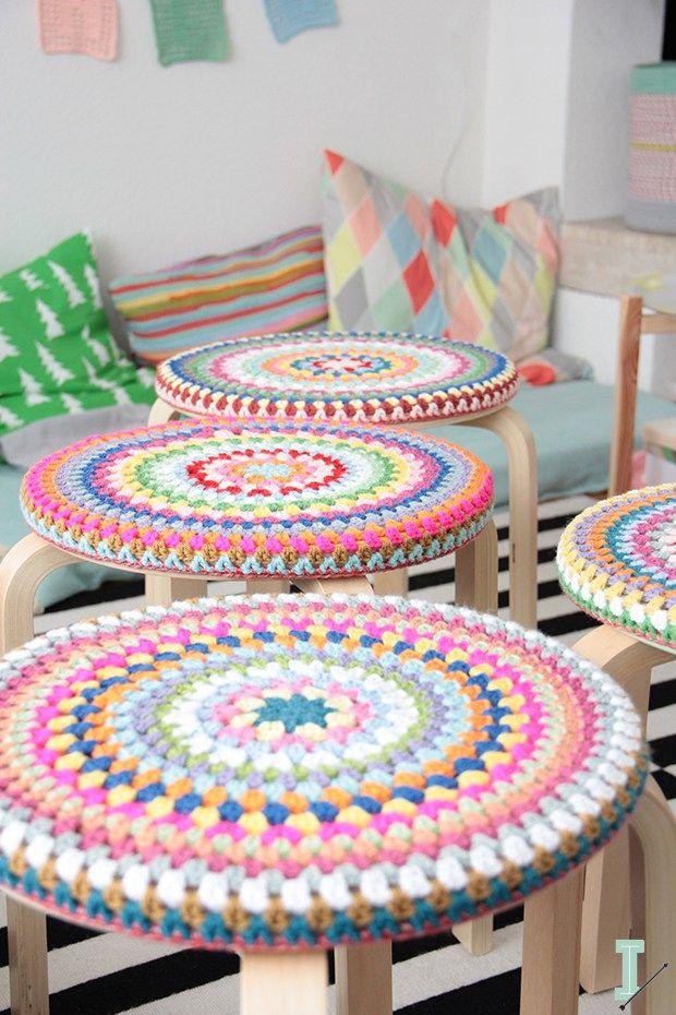 Ikea hack - frosta stools crochet top