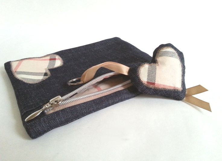 cosmetic bag / pencil case with pendant