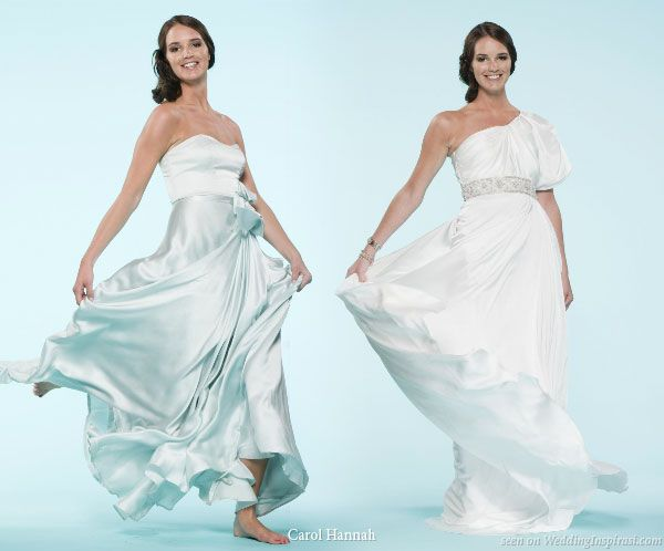 Swishing style - gorgeous grecian goddess inspired gowns by Carol Hannah Whitfield, Project Runway season 6 alumni